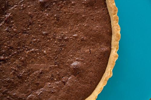 Chocolate, Hazelnut and Salted CaramelTart